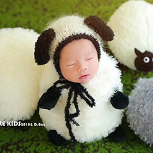 Newborn Baby Girl Boy Photography Props Infant Flannel Cartoon Sheep Hat Picture Photo Shoot Outfits Clothes fotografie Props цена 2017
