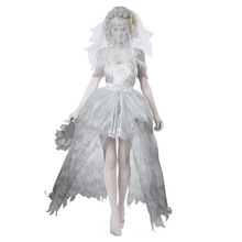 Free shipping new women zombie Corpse bride Halloween costume fancy party dress carnival roleplay costumes