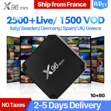 купить X96 mini IPTV Spain Android 7.1 TV BOX Amlogic S905W Quad Core X96mini Set-top Box with IUDTV IPTV Spain Sweden UK Italy Arabic по цене 5028.9 рублей