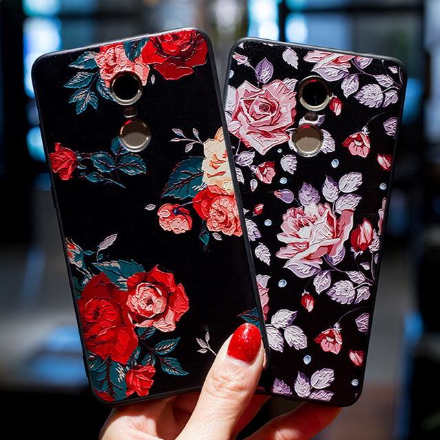 חדש 3D עלה פרח מט TPU מקרה Xiaomi Redmi הערה 5 הערה 5A Redmi 5A 5 בתוספת הסיליקון חזרה כיסוי xiaomi Redmi הערה 3 הערה 4 4X A