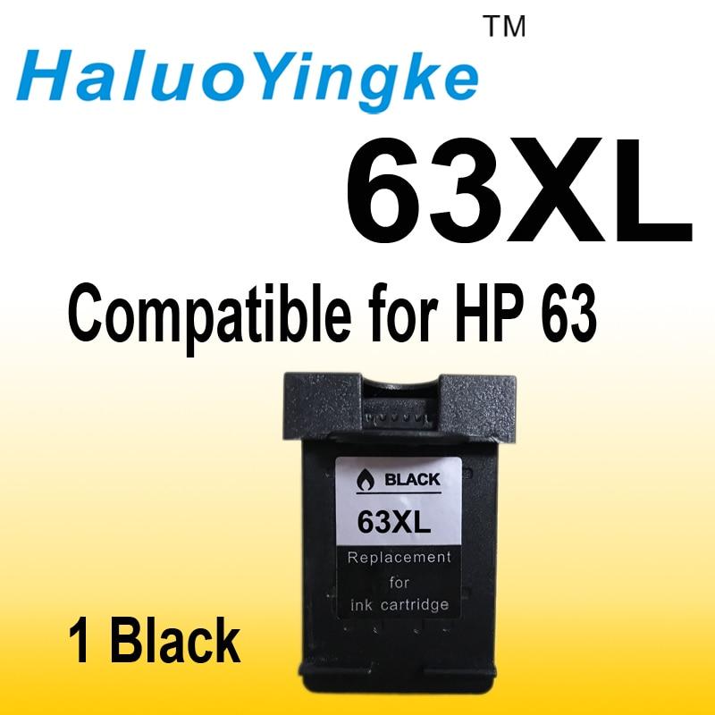 1pcs Black Ink Cartridge Replacement for HP 63XL 63 XL for HP Deskjet 1112 2130 2132 3630 3632Officejet 3830 4650