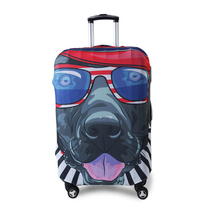 Protective Luggage Cover with Cute Dog