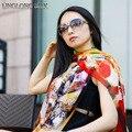 100% Silk Georgette Long Scarf 50cmX170cm Pure Silk Chiffon New Desigual Spring Summer Style Bikini Scarves Chiffon Scarf