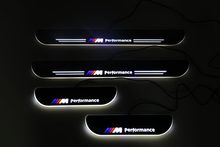 RQXR led moving door scuff for BMW e39 dynamic door sill plate flat lining overlay flow/still light, 4pcs(China)