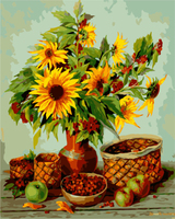Sunflower Canvas Painting DIY Frameless Picture Painting By Numbers Wall Art Oil Paintng Home Decor For