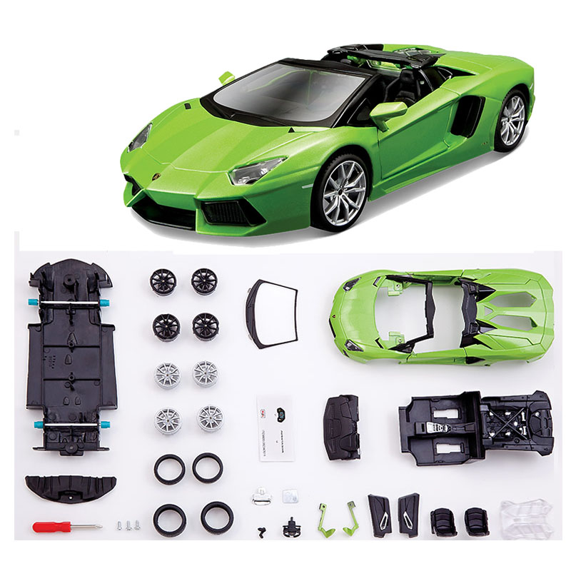 ФОТО Fashion Vehicle Educational Toys Metal Assembling Green Color Supper Car Model Toy For Children