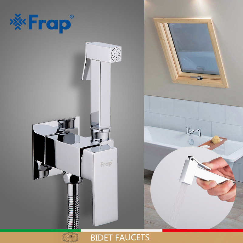FRAP Bidet Faucets Cold & Hot Water Mixer Washer Mixer Muslim Ducha Higienica Crane Square Shower Bidet Spray Brass Shower Tap
