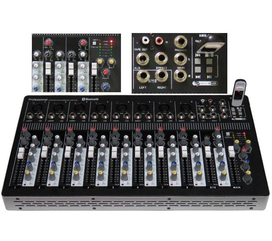 STARAUDIO nouvelle marque 10 canaux mélangeur Pro DJ scène KTV USB Bluetooth MP3 pour Microphone et haut-parleur SMX-1000B