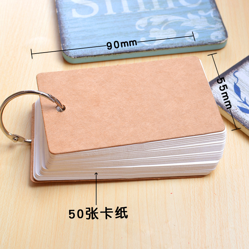 50 листов/пакет слова карты DIY Бумага Правописание карты английского языка пустой открытки поздравительные открытки