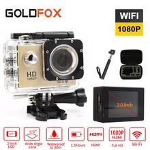 Goldfox Action Camera 1080P Full HD 30M Go waterproof pro camera Sport DV Bike helmet Car Cam With Retail Packing
