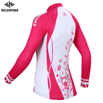 Siilenyond 2019 Women Pro Winter Keep Warm Cycling Jersey Thermal Fleece Mountain Bike Cycling Clothes Cycling Clothing 2
