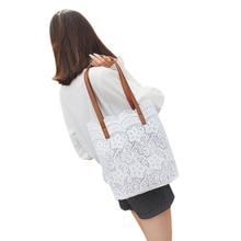 2 in 1 Floral Lace Handbag Women Beach Messenger Bag Tote Boho Shoulder Bag levsifun sj 0081 women s fashion 3 in 1 messenger bag tote bag handbag set apricot