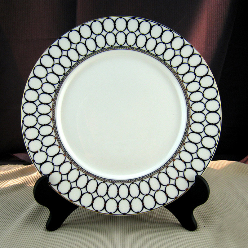 Dinner Plates Silver Princess Collection 10 Inch Set Of