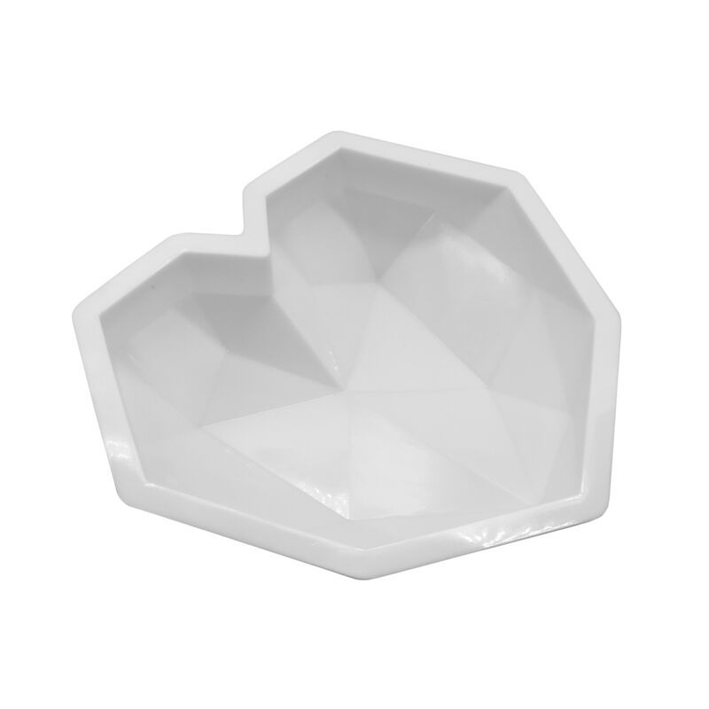 Image 5 - SHENHONG 3D Diamond Love Heart Dessert Cake Mould Pop Silicone Art Mold 3D Mousse Baking Pastry Silikonowe Moule Decoration-in Cake Molds from Home & Garden