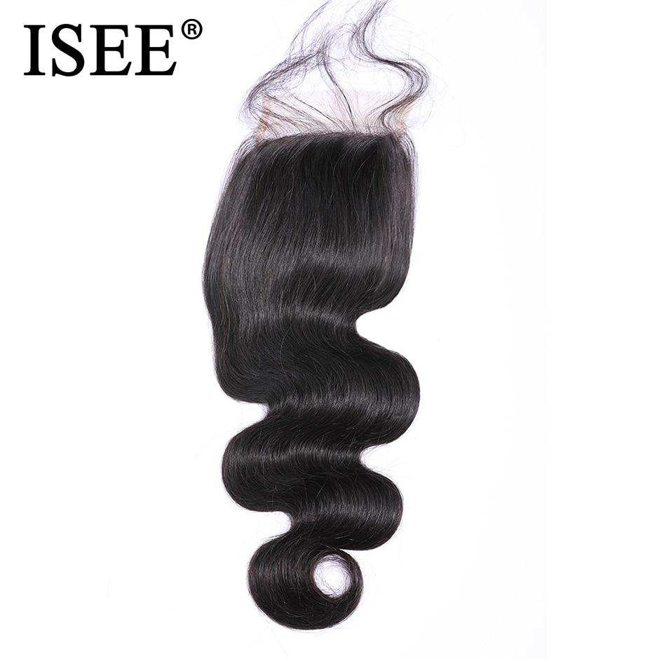 ISEE HAIR Peruvian Body Wave Closure 100% Remy Human Hair  4