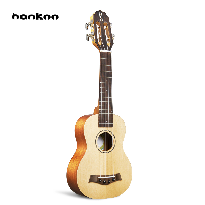 Hanknn 21 inch Mini Ukulele Guitar Fingerboard Rose wood Nylon String Ukelele Guitar Matte Beginner Acoustic Musical Instrument hanknn 23 inch ukulele acoustic guitar concert ukulele professional stringed musical instruments handcraft ukelele for beginner