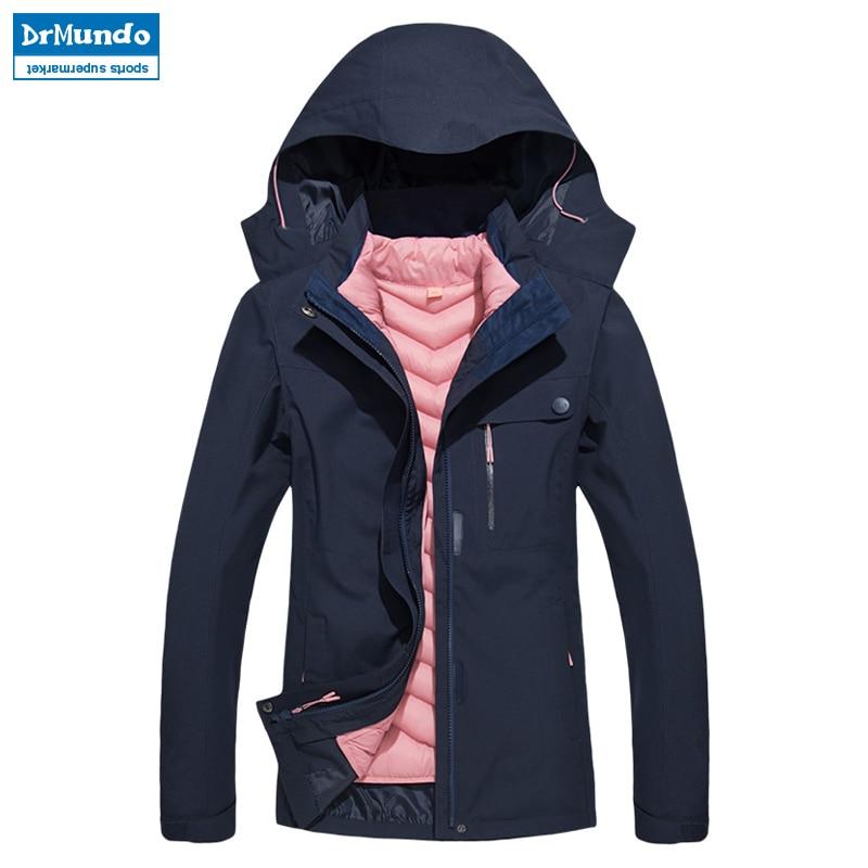 Women Waterproof Mountain Ski Jacket Hiking Warm Plus Size Cotton Ski wear Outdoor Snowboard Jacket Windproof