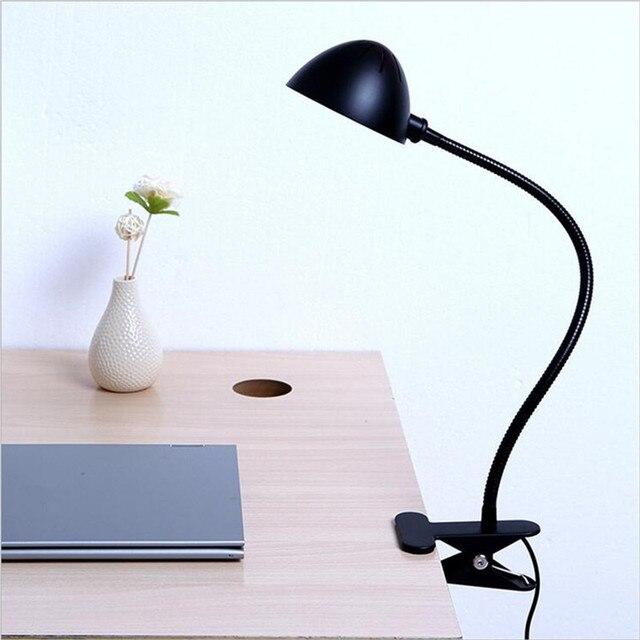 estilo industrial moderna lmparas de mesa para el dormitorio de noche plegable lmpara de escritorio clip