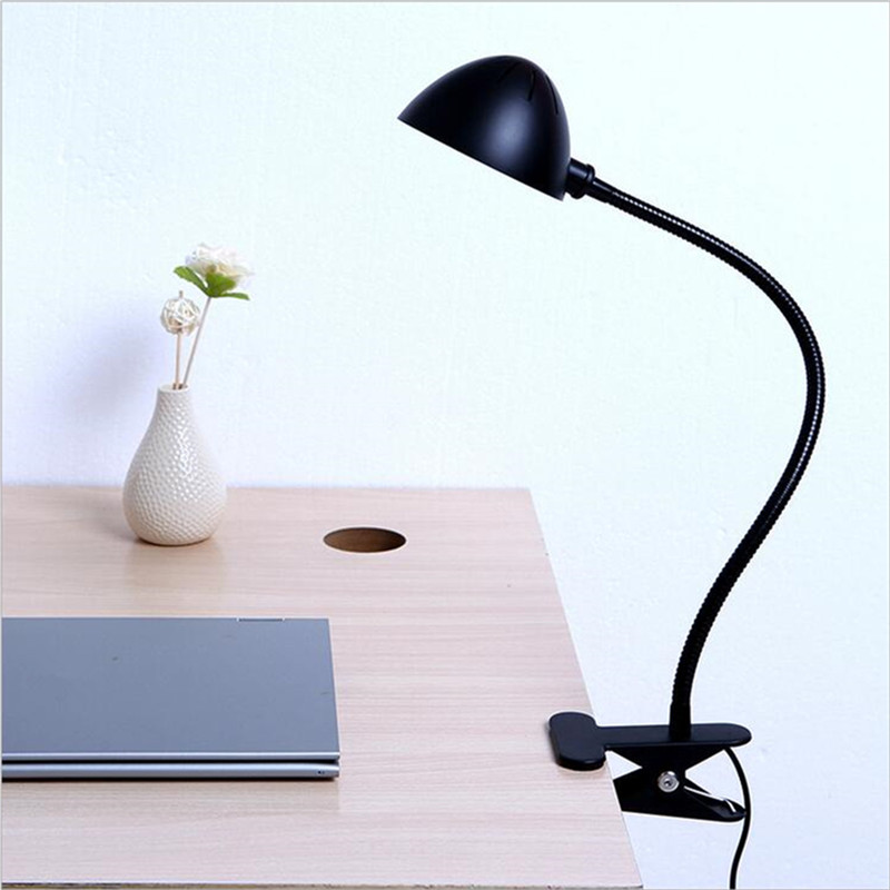 Modern Industrial Style Table Lamps Lights for Bedroom Bedside Folding Desk Lamp Clip Dimmer Led Light Clamp Lampshade Abajur