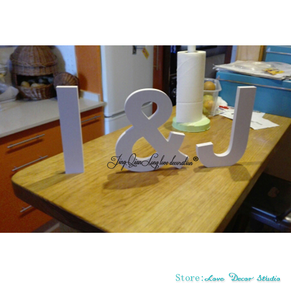 Us 18 47 23 Off Wooden Letters Freestanding 3 Piece Initial Set For Wedding Table Decor Personalized Signs Letter Of 12 In Party Diy