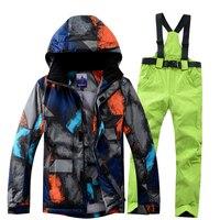 Ski Suit Men Winter 2019 Thermal Waterproof Windproof Clothes Snow pants Ski Jacket Men Set Skiing And Snowboarding Suits Brands