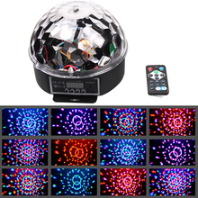 DMX512 RGB LED Stage Lighting Crystal Magic Diamond Ball Laser Light  Disco DJ Party DMX Stage Light With Remote Control