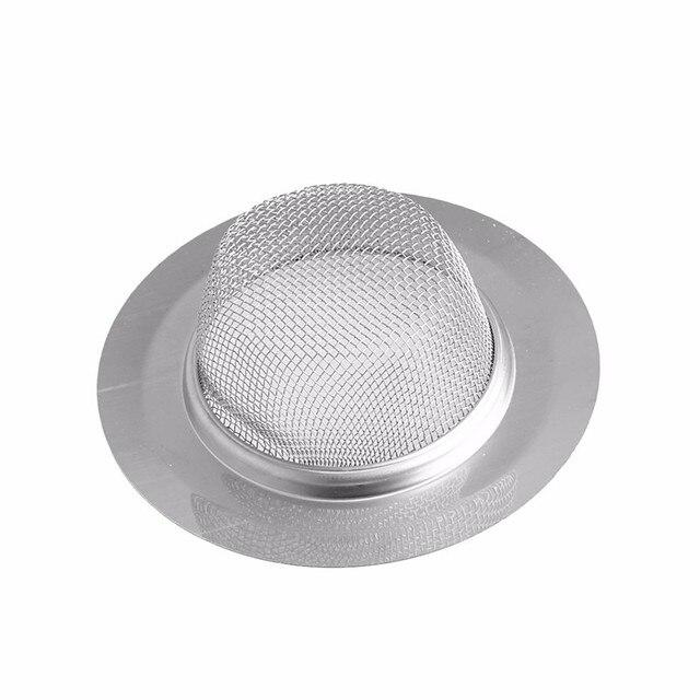 Home Kitchen Bathroom Sink Drain Strainer Stainless Steel Mesh Hole Filter On