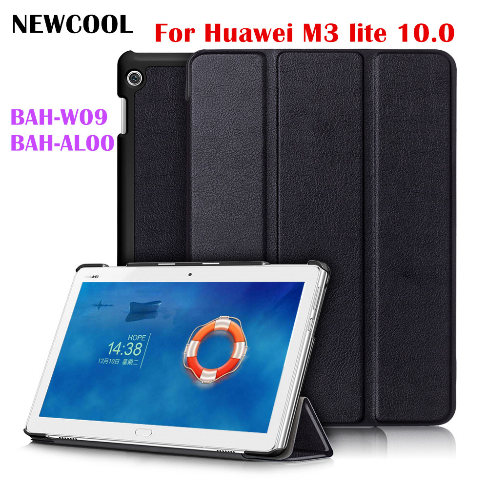 M3 Lite 10.0 Magnet Flip Cover For Huawei MediaPad M3 Lite 10 10.1 BAH-W09 BAH-AL00 BAH-L09 Tablet Case Smart Cover luxury pu leather cover business with card holder case for huawei mediapad m3 lite 10 10 0 bah w09 bah al00 10 1 inch tablet