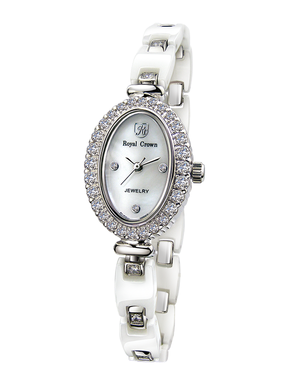 Royal Crown Jewelry Watch 63806C Italy brand Diamond Japan MIYOTA platinum ceramics New Luxury Brand Women Dress Watches royal crown jewelry watch 3850 italy brand diamond japan miyota platinum best fashion dress bracelet shell luxury rhinestones