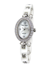 b1cbe099ace Royal Crown joyería reloj 63806C Italia marca diamante Japón MIYOTA platino  cerámica nueva marca de lujo relojes mujer vestido