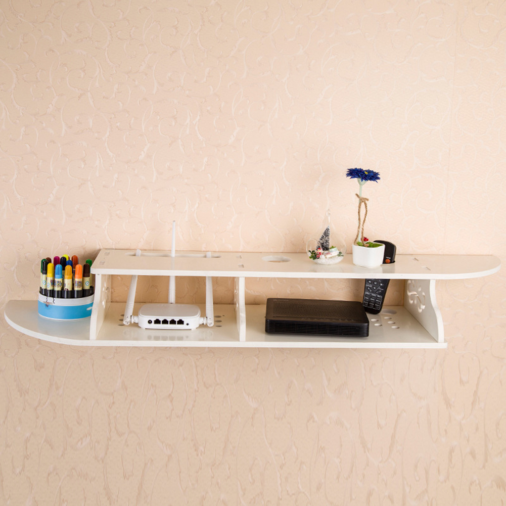 Wall Mount Floating Shelves for CD TV DVD Book Display Set-top Storage Modern Home Decoration Wall Shelf Holder tv dvd air conditioner wall mount remote control holder wall mounted 52 5mm 22mm 2 07in 0 87in