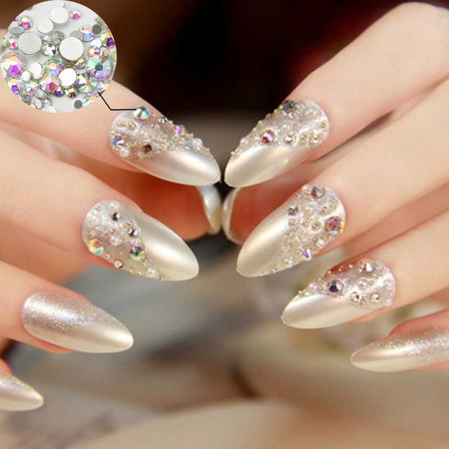 Top quality 1440pcs SS3 Clear AB Nail Art Rhinestones For Nails ...