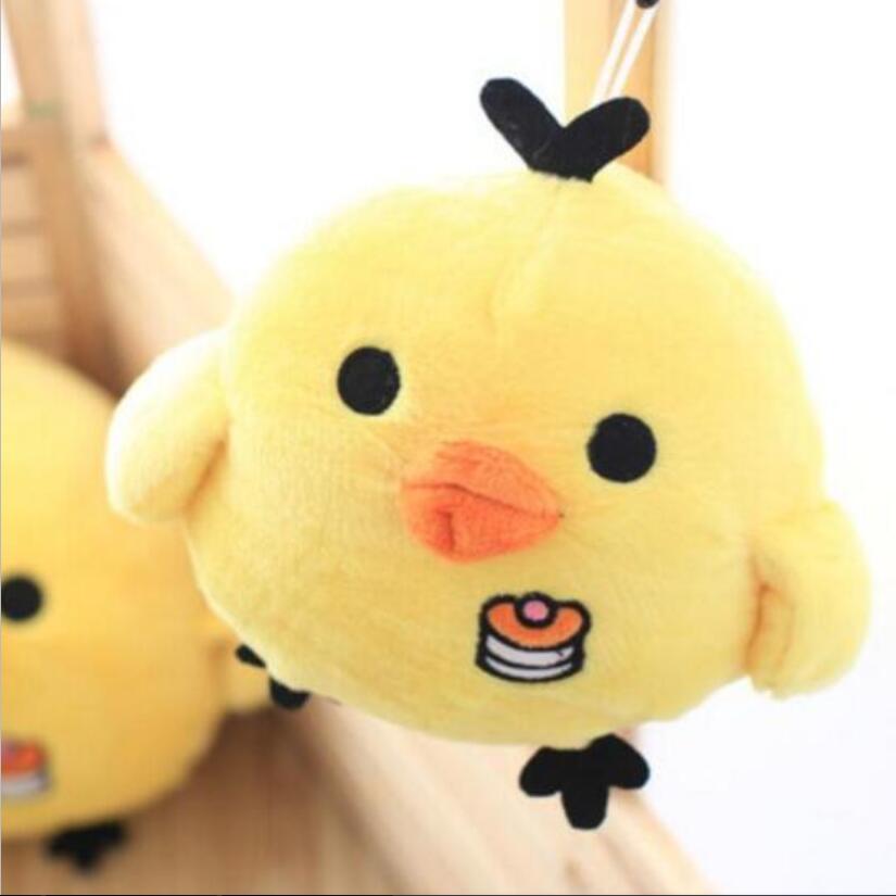 1pcs Kawaii Cute 15cm Yellow Chicken Plush Toys Rilakuma Relax Chick Stuffed Toys Baby Toy Birthday