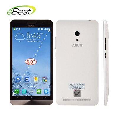 original asus zenfone 6 cell phone 6 inch 2GB RAM 16GB ROM Android 4.3 Intel Atom z2580 13MP Camera Dual SIM Mobile Phone