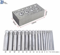 18pcs Dapping Doming Punch Set Steel Forming Block For Silversmith jewellery tools