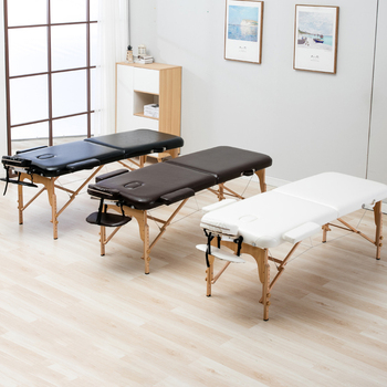 Folding Beauty Bed 185cm length 70cm width Professional Portable Spa Massage Tables Foldable with Bag Salon Furniture Wooden - discount item  48% OFF Commercial Furniture