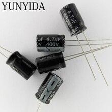 20 шт. Алюминий электролитический конденсатор 400 В 4.7 мкФ 3.3 мкФ 2.2 мкФ 1 мкФ