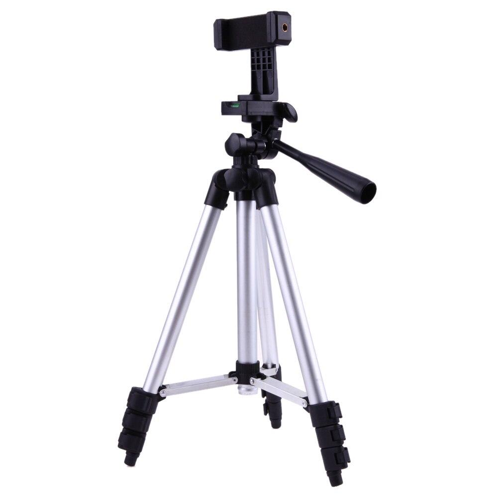 Professional Foldable Camera Tripod Holder Stand 1 4 Screw 360 Degree Fluid Head Tripod Stabilizer Aluminum