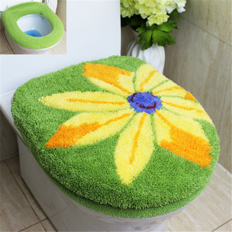 New Fashion Huiduo Soft Flock Printing Toilet 2pcs Set Toilet Seats - Household Merchandises - Photo 4