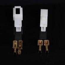 10 комплектов 6.3 мм 2way/контактный Электрический автомобильные провода соединительные Наборы Мужской Гнездо разъем для мотоцикл