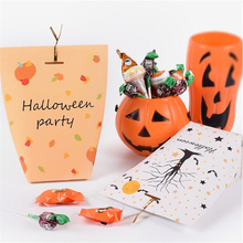 Halloween Creative Candy Gift Box Funny Color Packing Paper 50pcs/lot