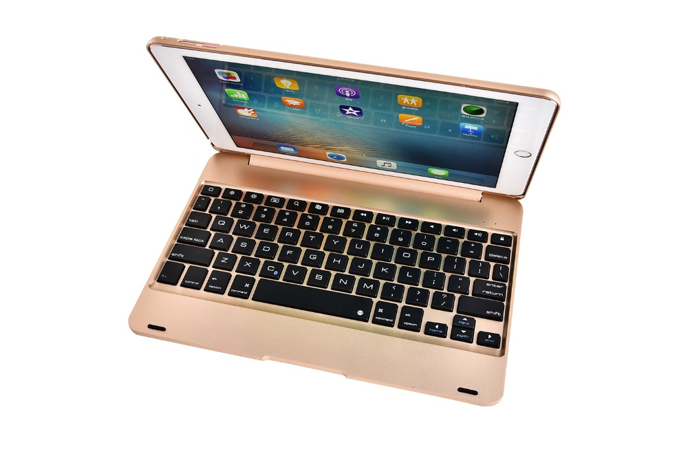 Ultra Slim Russian/Hebrew/Spanish Wireless Bluetooth Fold Cover Case Stand Keyboard Dock For Apple iPad Pro 9.7 inch Tablet ultra slim 360 degree rotation russian hebrew spanish wireless bluetooth keyboard case for apple ipad mini 1 2 3 7 9 tablet