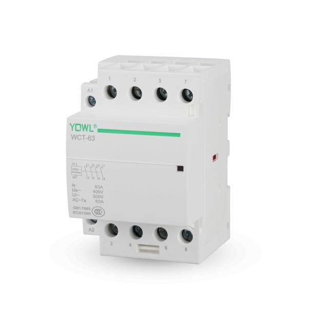 4P 63A 4NO 4NC 2NO+2NC 24V/110V/230V 50/60HZ Din Rail Household AC Contactor