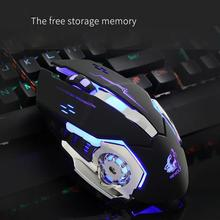 Wired LED Light 4000DPI Optical Usb Ergonomic Pro Gamer Gaming Mouse Metal Plate Pc Gamer Computador Lol # T10