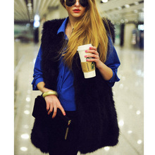 Autumn and winter foreign trade explosions Haining fur vest ladies long vests imitation