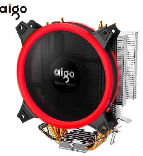 Image 2 - AIGO E3 4 Heatpipes CPU cooler for AMD Intel 775 1150 1151 1155 1156 CPU radiator 120mm 4pin cooling CPU fan PC quiet-in Fans & Cooling from Computer & Office