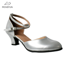 Movefun Summer New Dance Shoes Women Modern Ballroom Latin Shoes Women's Square Dance Shoes Ladies Party Social Dancing Shoes-83