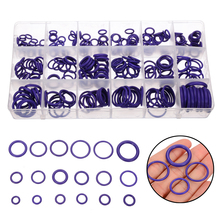 270pcs/kit R134a Ring Assortment Purple Rubber O-Ring Seals Washers Gasket For Car Auto Air Conditioning Compressor Pumbs New 225pc rubber o ring gasket assortment kit sae plumbing auto hydraulics hvac gas