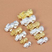 3d 100% 999 серебряные зеркальные бусины чистое серебро на удачу
