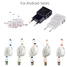 5V/2A Phone Wall Charger Adapter 1M/2M/3M Retractable Micro USB Charging Cable For Samsung Galaxy A3/A5/A7/J3/J5/J7 2016 Moto G5